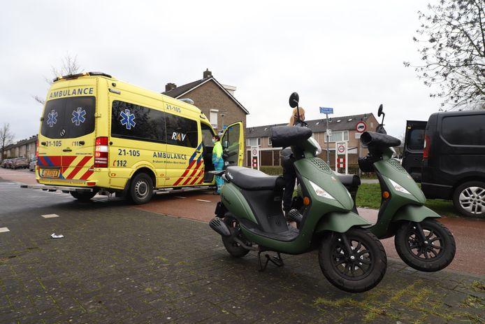 Een scooterrijdster raakte gewond in Boxtel.
