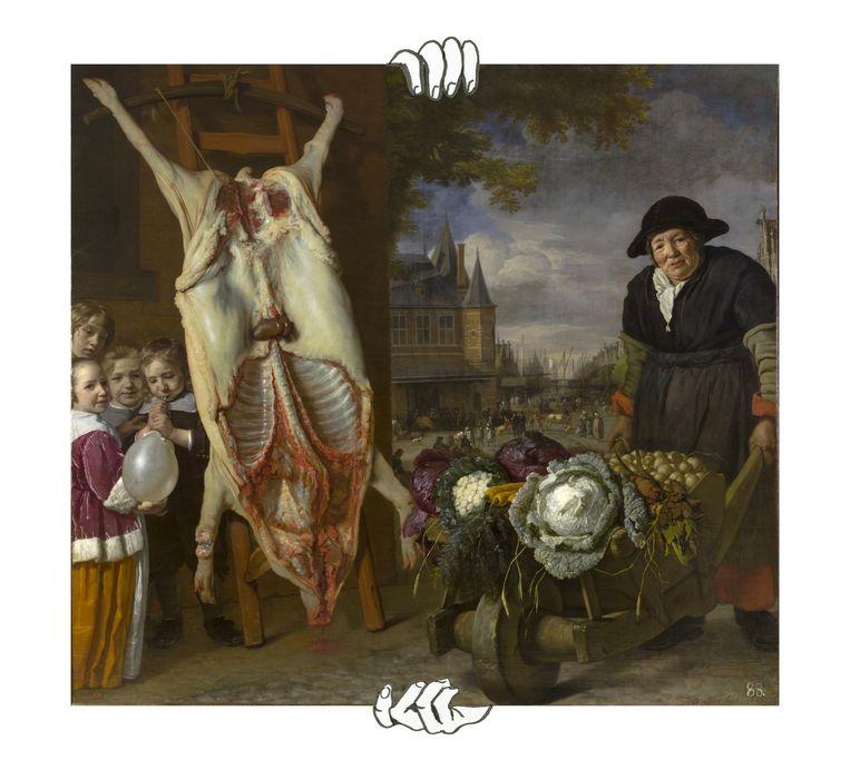 Bartholomeus van der Helst, De Nieuwmarkt in Amsterdam Beeld Hermitage Museum, St Petersburg