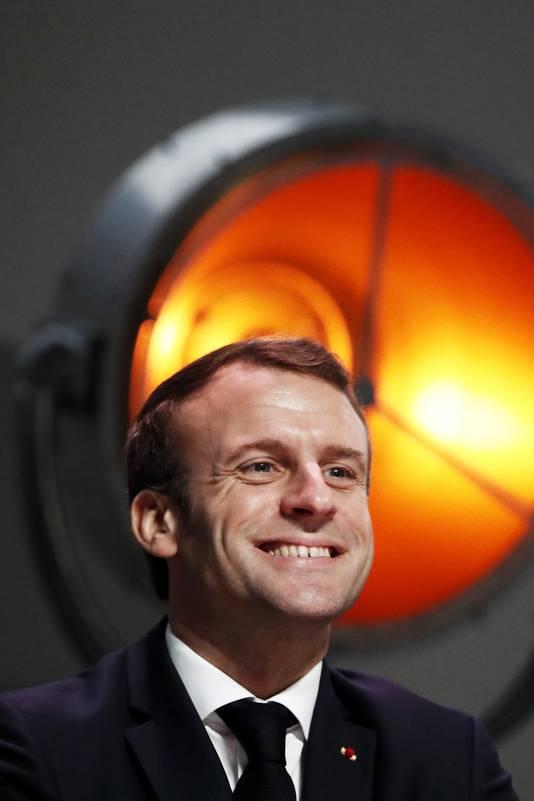 De Franse president Emmanuel Macron omschreef de NAVO als 'hersendood'