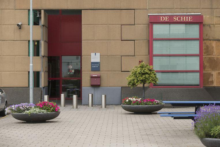 Gevangenis De Schie in Rotterdam, waar een speciale terroristenafdeling (TA) gevestigd is. Beeld ANP
