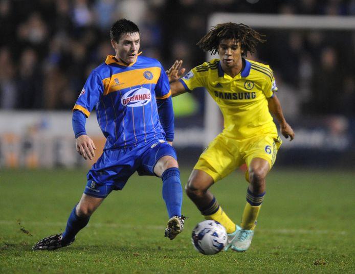 2014: Nathan Aké in actie namens Chelsea tijdens de FA Cup-wedstrijd tegen Shrewsbury Town.