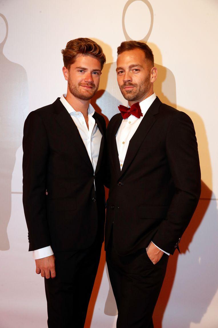 Davy en zijn partner Lukas Dhont.