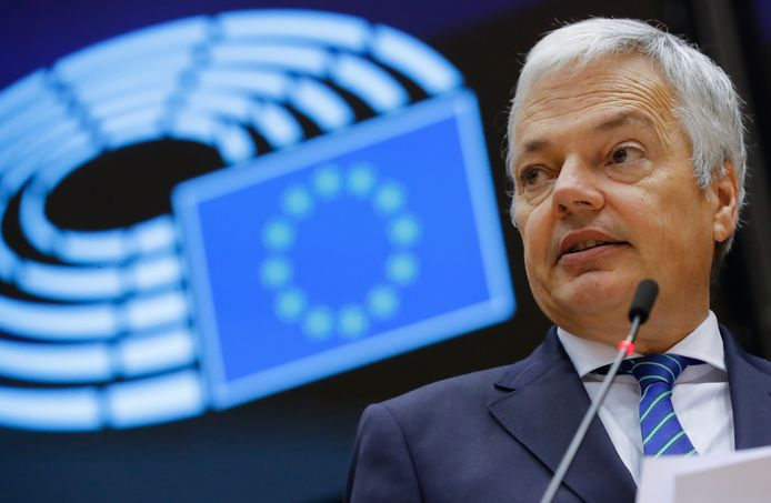 Le commissaire européen à la Justice Didier Reynders.