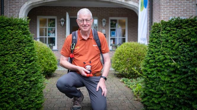"""Maurice Dommicent (62) stapt 1.000 kilometer voor animatieteam van woonzorgcentrum: """"Ik wil niet enkel geld inzamelen, maar ook een glimlach op hun gezichten toveren"""""""