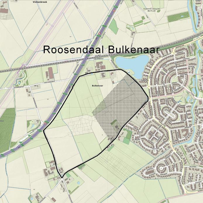 Het gebied De Bulkenaar omvat 42 hectare, waar exact het nieuwe Bravis ziekenhuis komt, ligt nog niet vast.