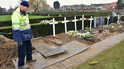 Begrafenis drie dagen uitgesteld door obus op kerkhof