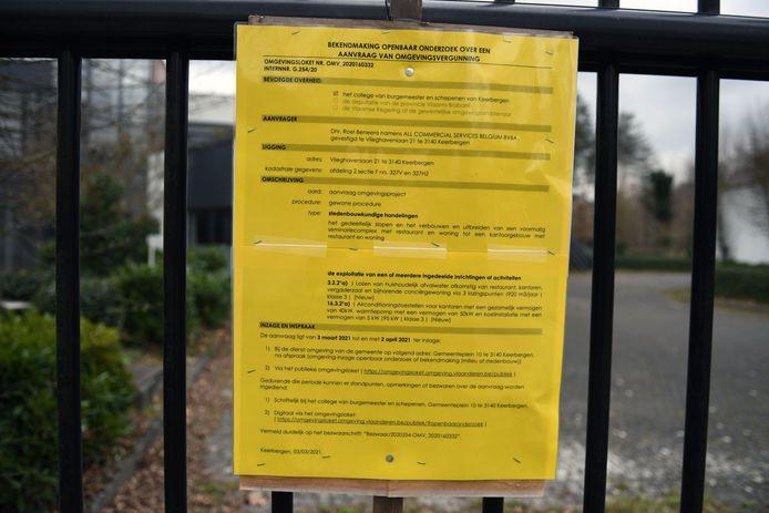 De bekendmaking voor een openbaar onderzoek zorgde voor heel wat ongerustheid bij de buurtbewoners.