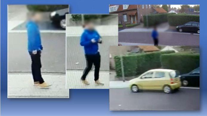 De man die het vermiste meisje uit Berghem oppikte in een auto.