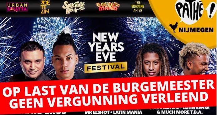 Het New Years Eve-festival ging niet door.