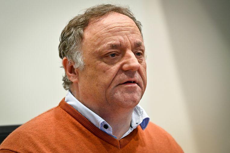 Viroloog Marc Van Ranst tijdens een eerdere bijeenkomst in het Belgische parlement. Beeld BELGA