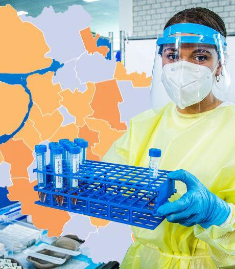 KAART | Flinke daling positieve tests in Oost-Nederland, ook Flevoland weer de goede kant op