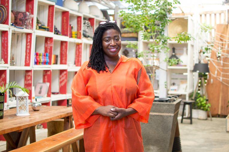 Onderneemster Eyetsa Lorraine Ocloo is op zichzelf aangewezen als het gaat om het succes van haar winkel, zegt ze. Beeld Patrick Owusu Lah