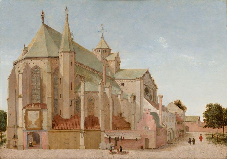 Pieter Saenredam, De Mariaplaats met de Mariakerk in Utrecht, 1659, olieverf op paneel, 44 x 63 cm Beeld Mauritshuis