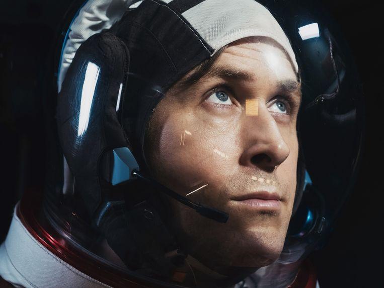 Ryan Gosling in 'First Man'. Beeld
