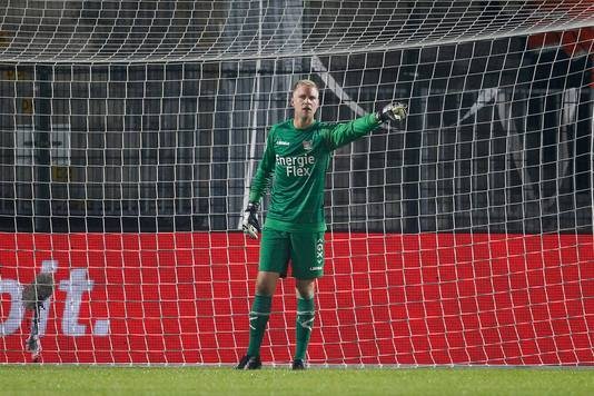 NEC keeper Marco van Duin tijdens de wedstrijd Almere City FC - NEC
