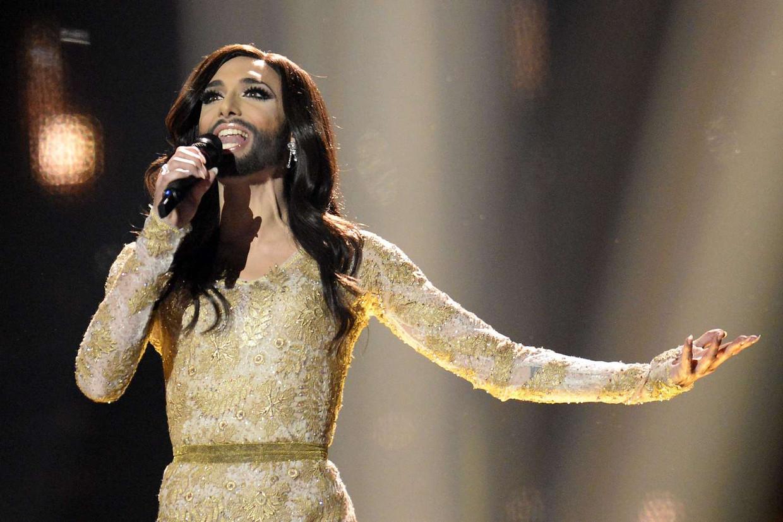 Conchita Wurst won in 2014 namens Oostenrijk het Eurovisiesongfestival.