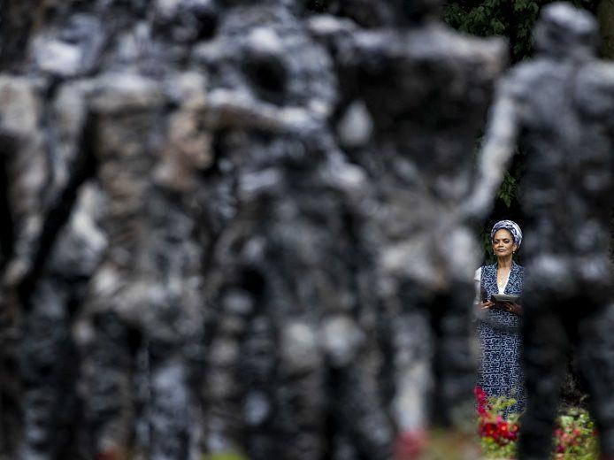 De landelijke herdenking van het slavernijverleden vond donderdag in Amsterdam plaats.