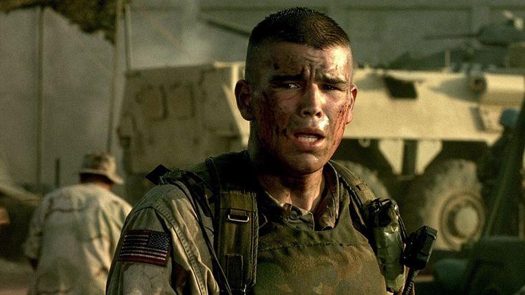 Josh Hartnett in Black Hawk Down van Ridley Scott. Beeld