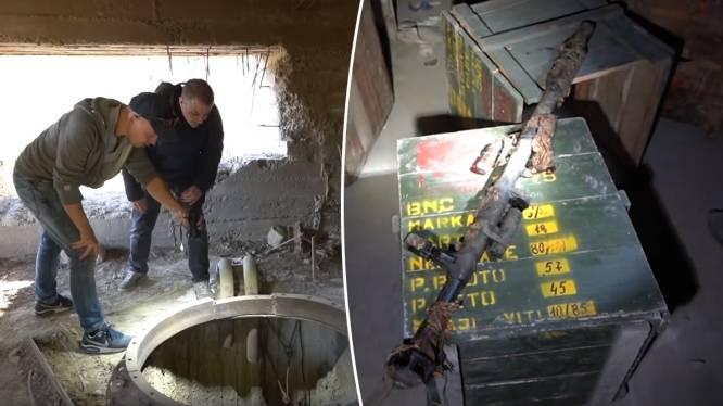 Ondergrondse munitiefabriek blijkt nog vol wapens en explosieven te liggen