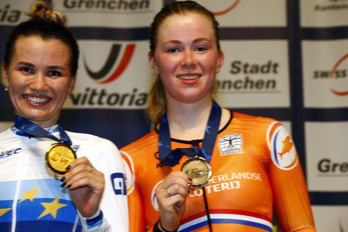 Gulnaz Khatuntseva en Lonneke Uneken.
