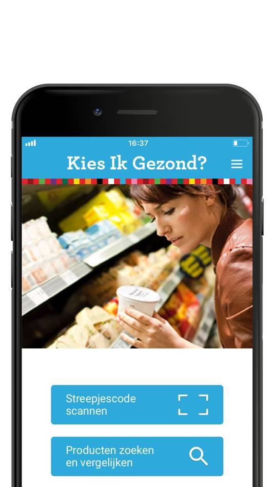 De Kies ik gezond?-app van het Voedingscentrum.