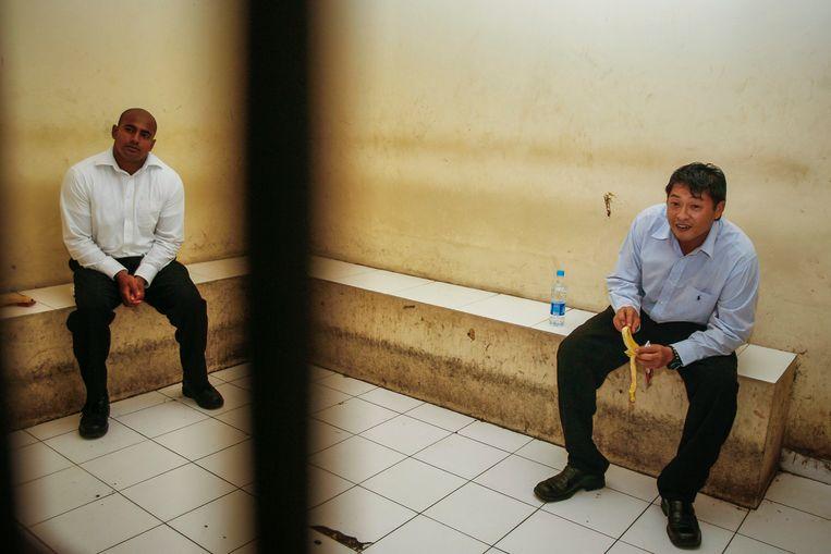 Myuran Sukumaran (L) en Andrew Chan (R) in 2010. Beeld EPA