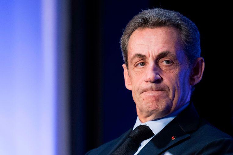De Franse oud-president Nicolas Sarkozy. Beeld AFP