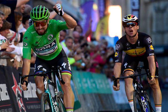 Peter Sagan troefde vorig jaar Yves Lampaert af.