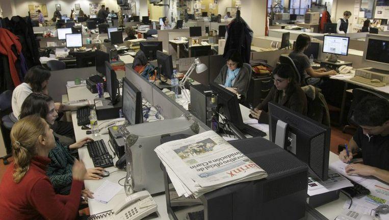 De redactiezaal van Clarín in Buenos Aires. Foto AP Beeld