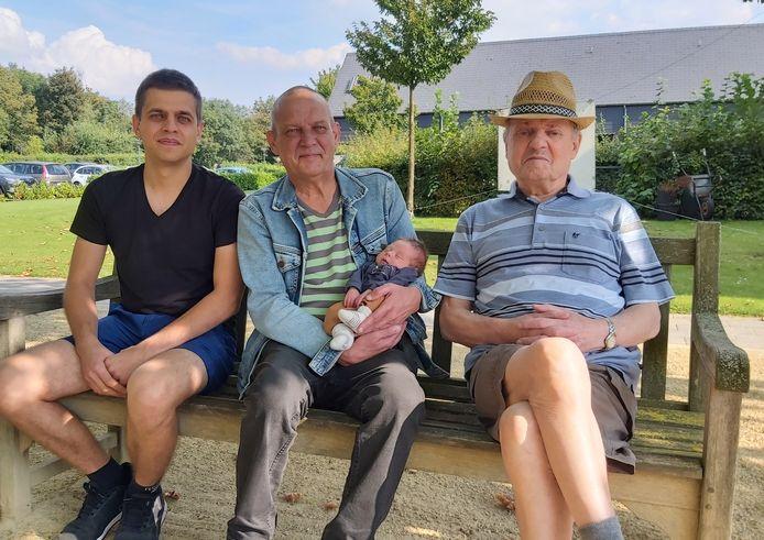 Thomas, Marc, Lars en Cyriel Danckaerts vormen een viergeslacht
