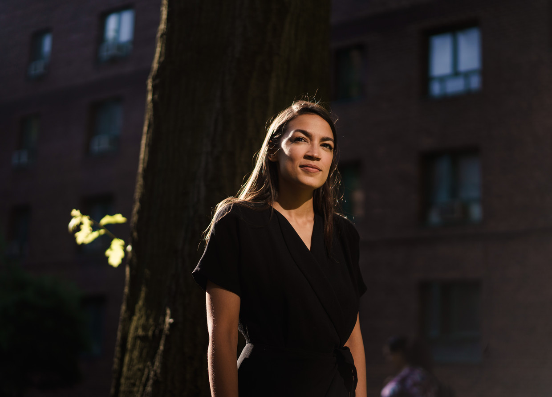 Alexandria Ocasio-Cortez. 'We moeten bekijken of en hoe we ons kunnen heruitvinden.'