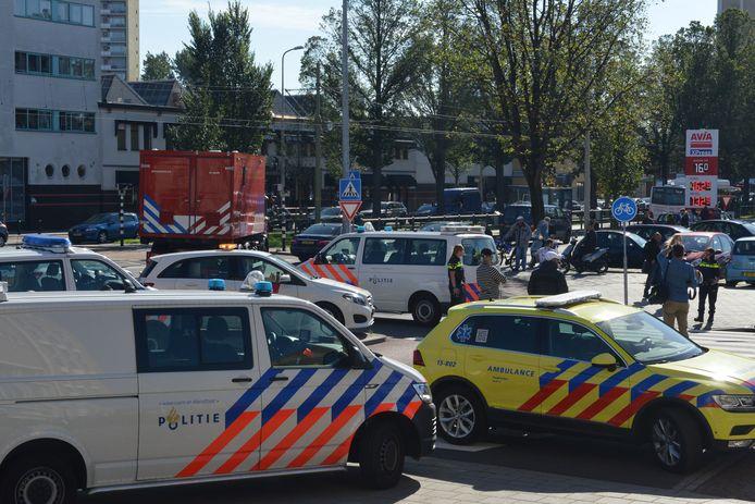 Afzettingen bij Telexstraat in Den Haag.