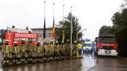 Meetjeslandse brandweer houdt minuut stilte voor overleden collega's