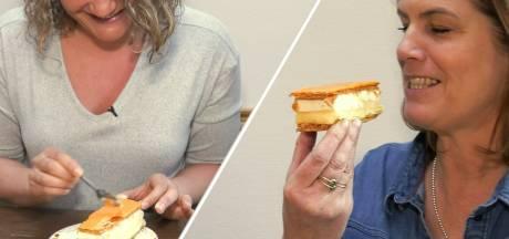 Een tompouce eten lastig? Als je hem in de stabiele zijligging krijgt, lukt het zonder knoeien!