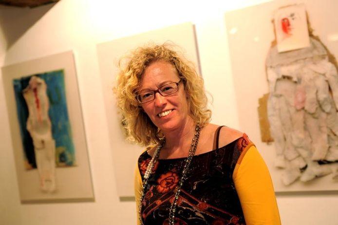 Beeldend kunstenares Ans Couwenberg. foto Lex de Meester