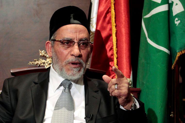 Mohammed Badie tijdens een interview in 2012. Beeld REUTERS