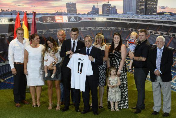 De familie van Gareth Bale.