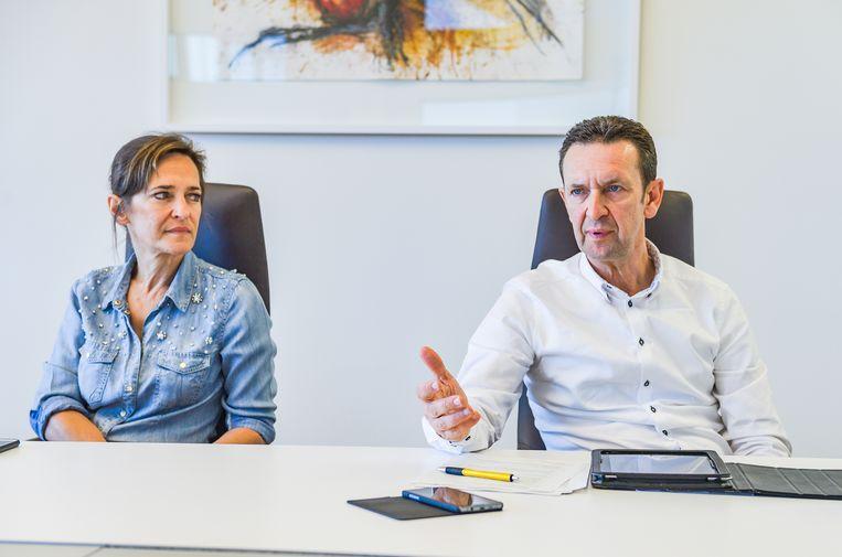 Broer en zus Claes staan evenwaardig in het bedrijf en schieten erg goed met elkaar op, zeggen mensen uit hun omgeving. Beeld Photo News