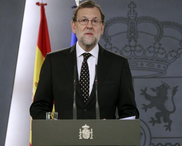 De Spaanse premier Mariano Rajoy. Beeld null