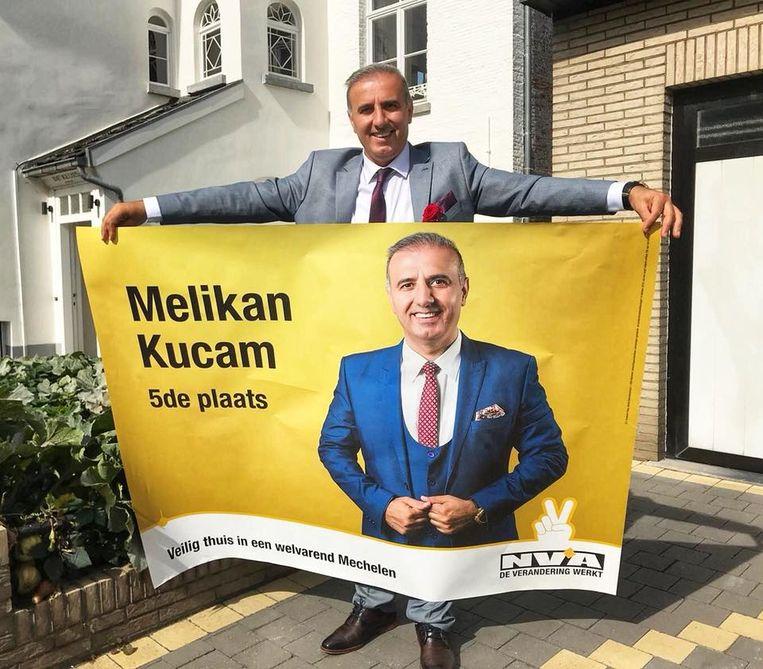 Mechels gemeenteraadslid voor N-VA Melikan Kucam wordt ervan verdacht grof geld te hebben gevraagd voor humanitaire visa. Beeld rv/Facebook