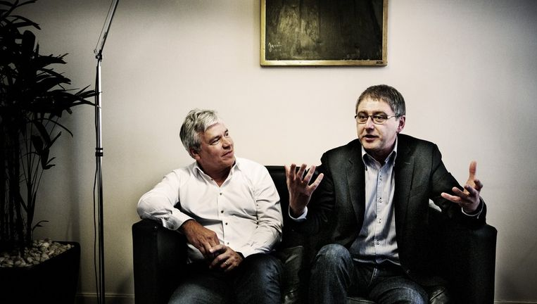 Ze zijn gepassioneerd en tegendraads. Ze leerden het metier in verschillende partijen en mogen zichzelf doctor noemen, en nu ook primus: Lode Vereeck en Bert Anciaux. Beeld Tim Dirven.