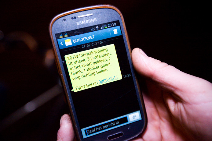 De politie streeft ernaar dat minimaal 10 procent van de inwoners zich bij Burgernet aansluit.