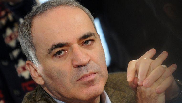 Gary Kasparov, een stoorzender wiens waarschuwingen je serieus moet nemen. Beeld afp