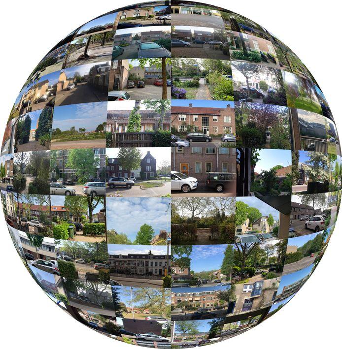 Door jaarlijks honderden foto's te maken voor 'Collage van de stad' is het alsof je door de facetogen van een insect  naar Nijmegen kijkt, aldus de initiatiefnemers.