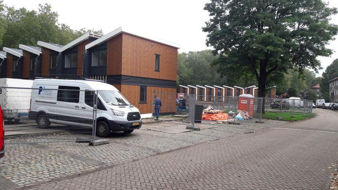 Tijdelijke woningen aan de Aartshertogenlaan in Den Bosch. Verhuurd door Zayaz, bestemd voor eenoudergezinnen met een of twee kinderen.