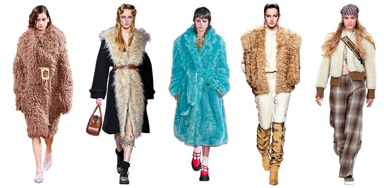 Vanaf links: Stella McCartney, Miu Miu, MSGM, Isabel Marant, Christian Dior Beeld Imaxtree
