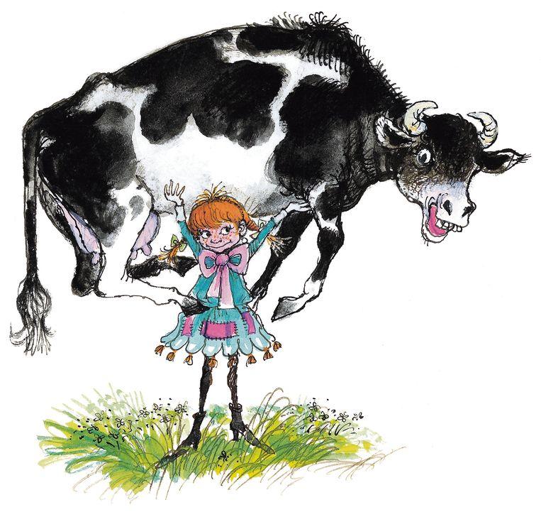 Vertaalster Martsje de Jong hoopt dat jongeren die 'Pippi Langkous' lezen denken:  'hé dat Fries valt mee'. Beeld Carl Hollander, uitgeverij Ploegsma.