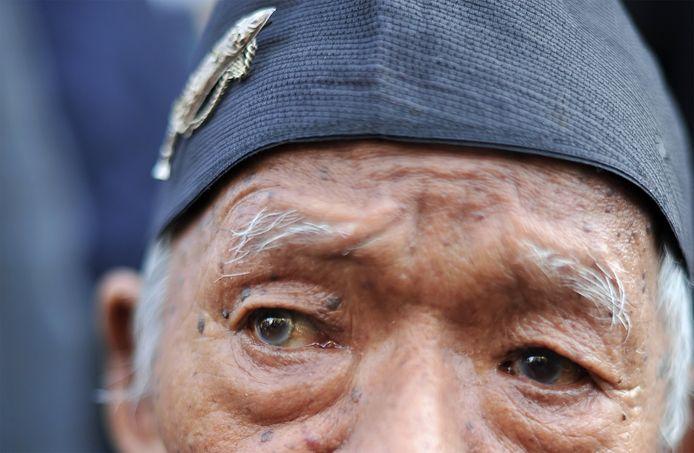 Een voormalige Gurkha-soldaat.