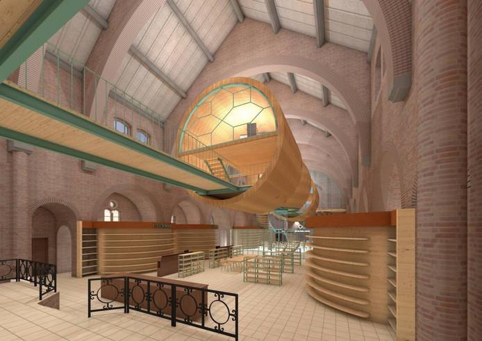 Rel rond fondsenwerving met kerkbanken in druten foto for Eveline interieur