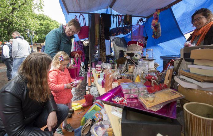 Beeld van de laatste Oranjemarkt in Eibergen tot nu toe, die in 2019.